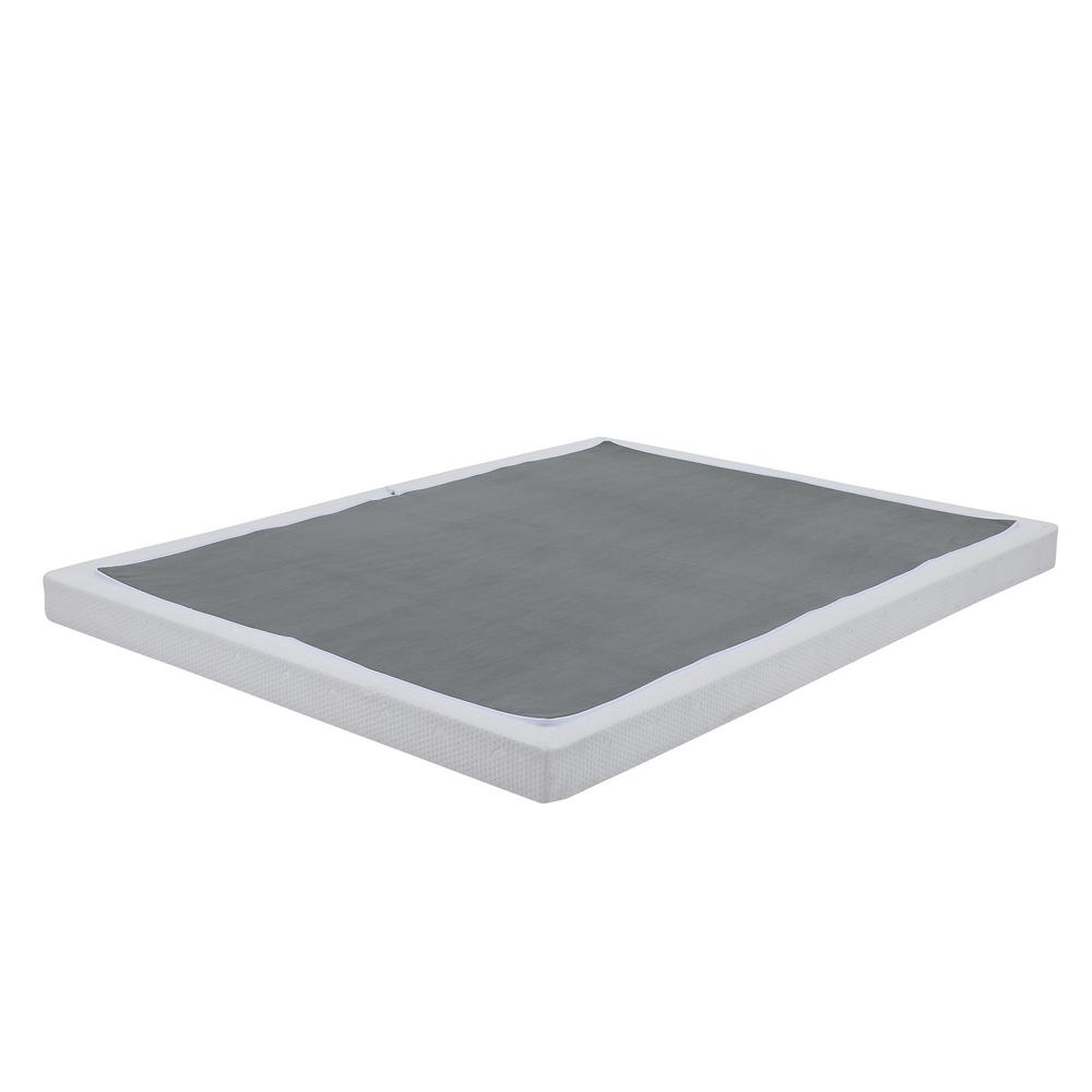 Instant Folding Queen Low Profile 4-Inch Mattress Foundation Box Spring