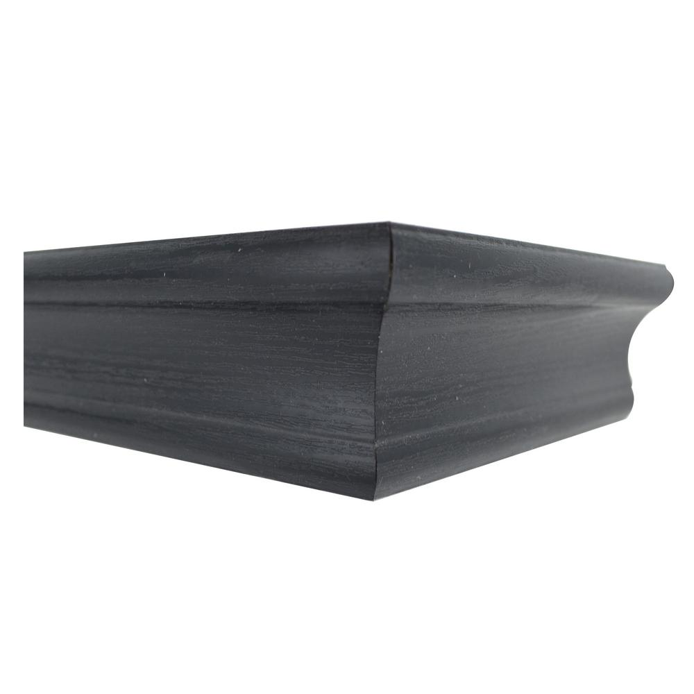 18 in. Tool Free Floating Shelf in Black