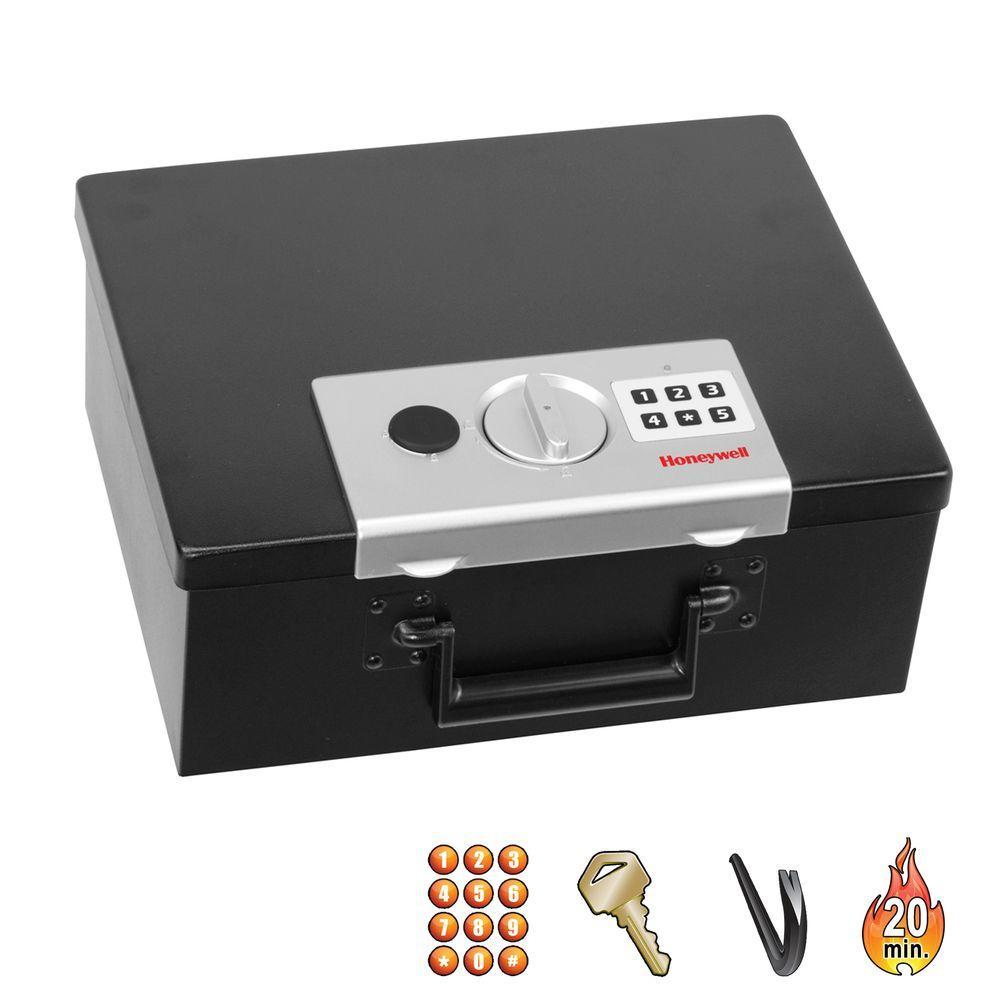 Honeywell 0.27 cu. ft. Fire-Resistant Digital Steel Security Box