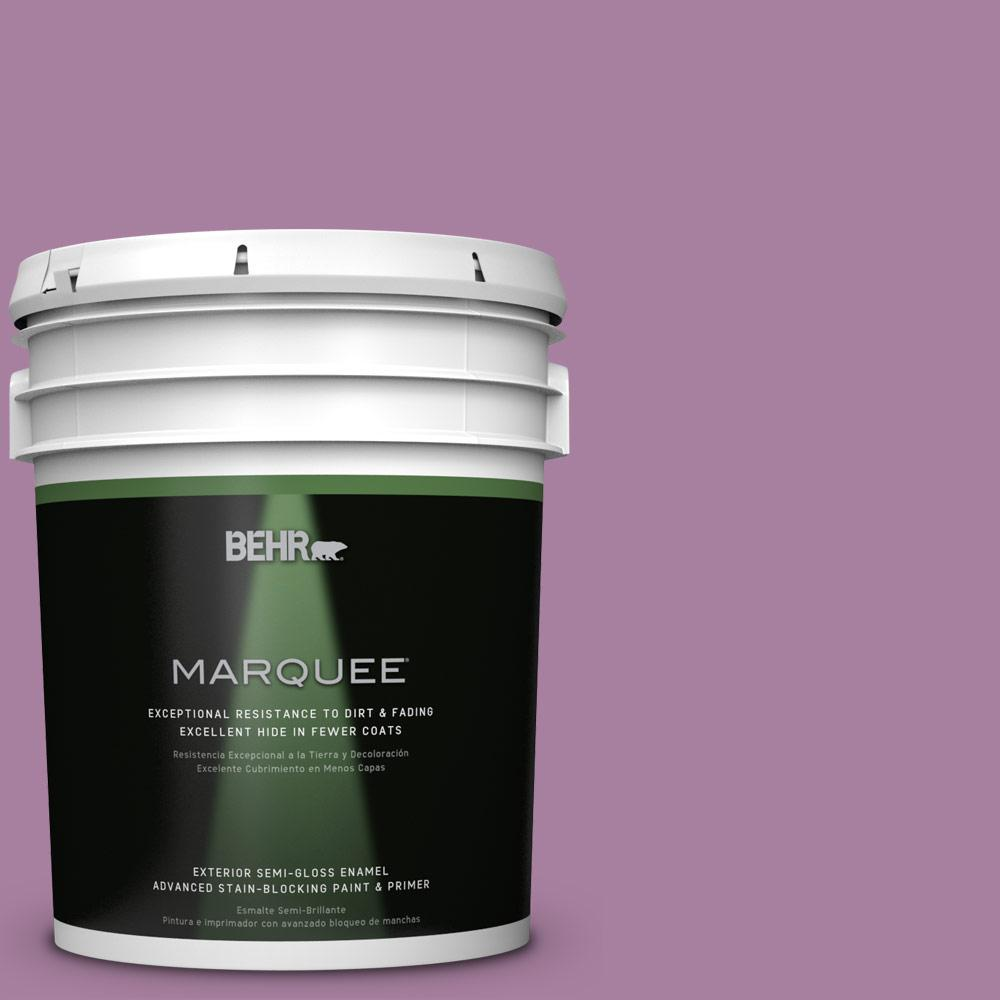 BEHR MARQUEE 5-gal. #M110-5 Amazonian Orchid Semi-Gloss Enamel Exterior Paint