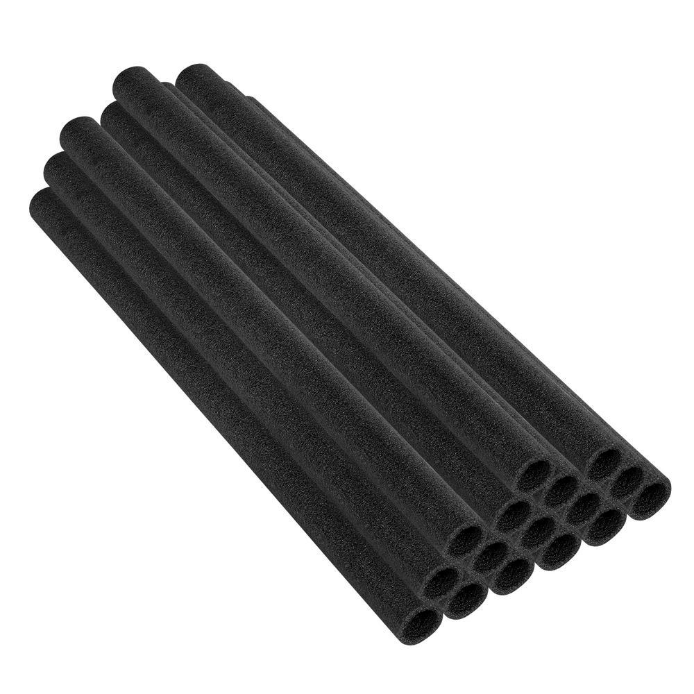 37 in. Black Trampoline Pole Foam Sleeves Fits for 1 in. Dia Pole (Set of 16)