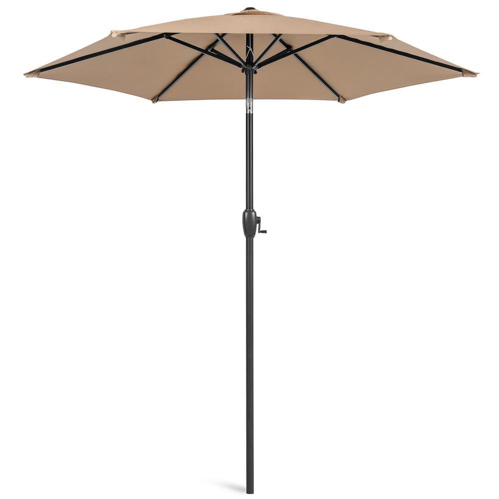 7.5 ft. Market Tilt Patio Umbrella in Tan
