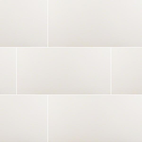 Msi White 12 In X 24 In Matte Porcelain Floor And Wall Tile 16 Sq Ft Case Nwhi1224 The Home Depot