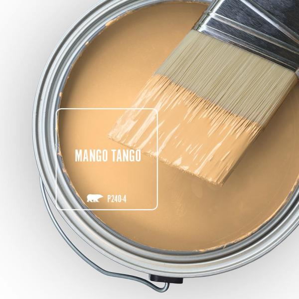 Reviews For Behr Premium Plus 5 Gal P240 4 Mango Tango Flat Exterior Paint And Primer In One 440005 The Home Depot