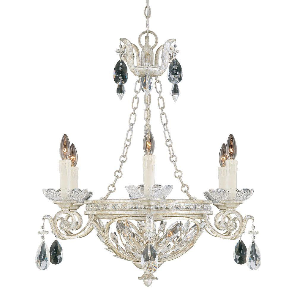 Illumine 9 -Light Chandelier Argentum Clear Crystals