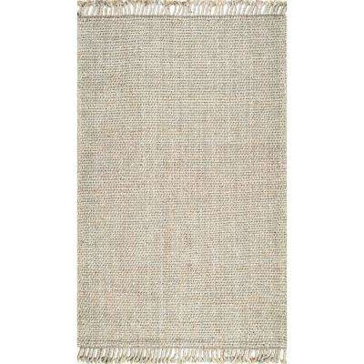 Flatweave Shayla Tassel Natural 7 ft. 6 in. x 9 ft. 6 in. Area Rug