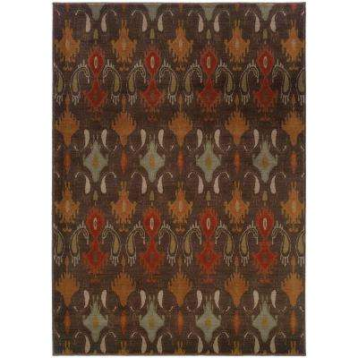 Clementine Brown 10 ft. x 13 ft. Area Rug