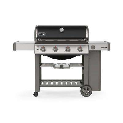Genesis II E-410 4-Burner Propane Gas Grill in Black with Built-In Thermometer