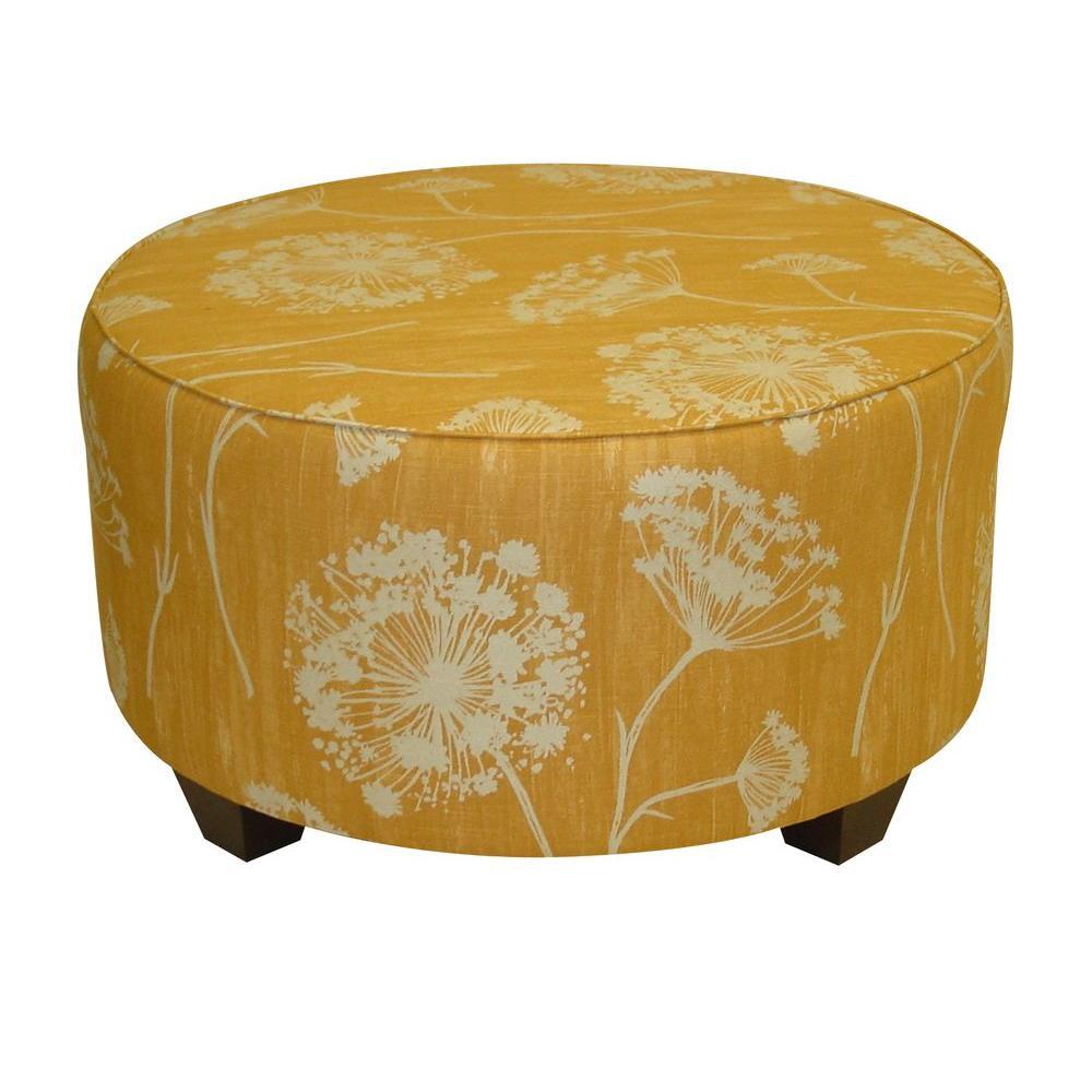 Home Decorators Collection Lace Butterscotch Round Cocktail Ottoman