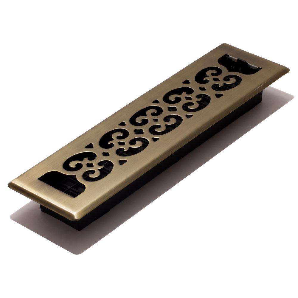Multiple Sizes Napa Style Vintage Brass Floor Register