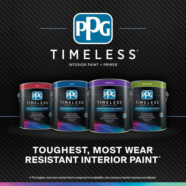 Reviews For Ppg Timeless 5 Gal Hdppgb45u Siesta Key Blue Flat Interior One Coat Paint With Primer Hdppgb45u 05f The Home Depot