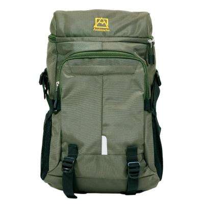 Avalanche 20 in. Olive Provo Daypack Backpack, Top Load Design