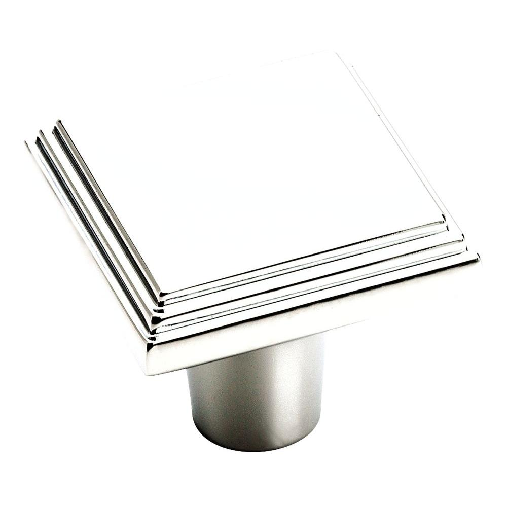 Manor 1 in. Polished Chrome Square Cabinet Knob