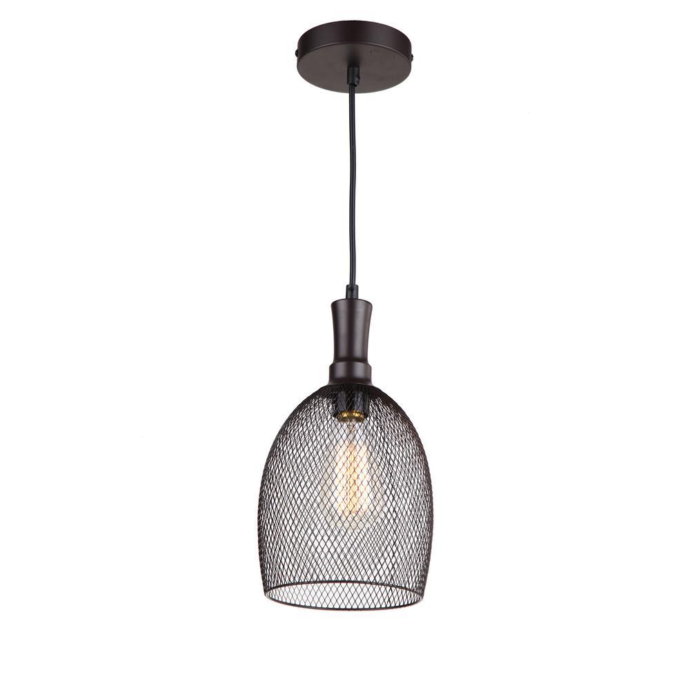 1-Light Ebony Bronze Pendant  sc 1 st  The Home Depot & Illumine 1-Light Dark Grey Pendant-PT2546DG - The Home Depot azcodes.com