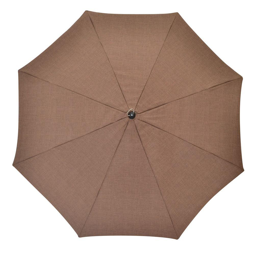 Plantation Patterns 7-1/2 ft. Patio Umbrella in Brown Solid