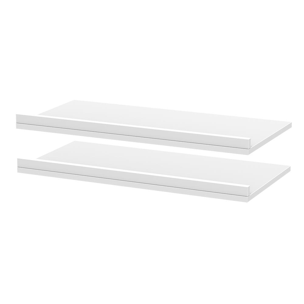Modifi 30 in. x 3 in. Rollout Shelves Drawer with Fence in Polar White (2-Pack)