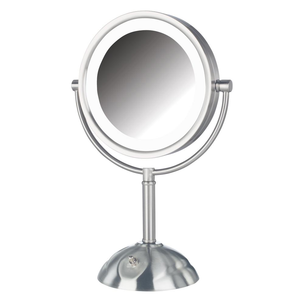 10 in. x 16 in. LED Lighted Table Makeup Mirror