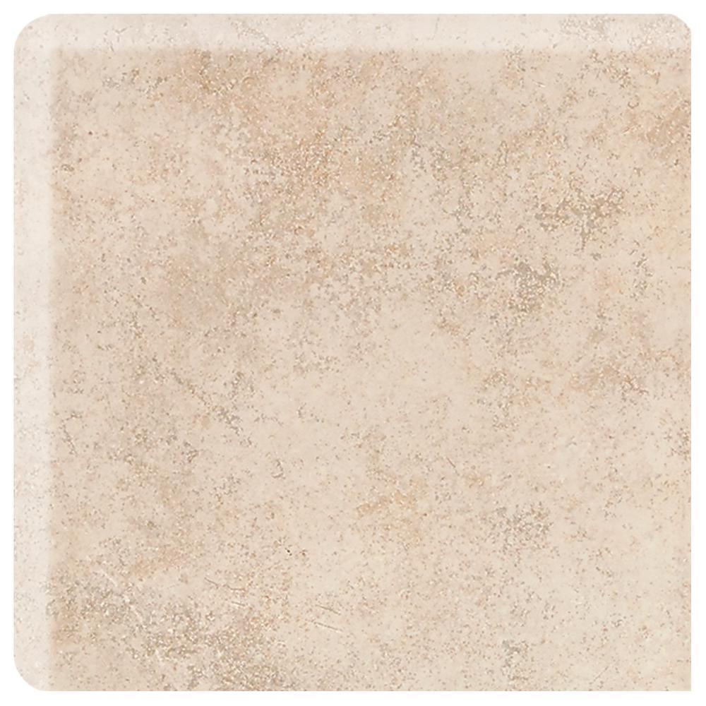 Briton Bone 2 in. x 2 in. Ceramic Bullnose Corner Wall Tile (0.056 sq. ft. / piece)