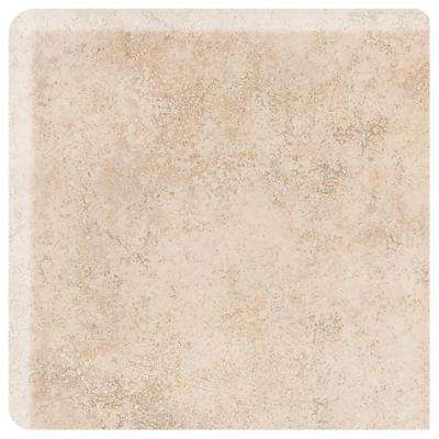 Briton Bone 2 in. x 2 in. Ceramic Bullnose Corner Wall Tile