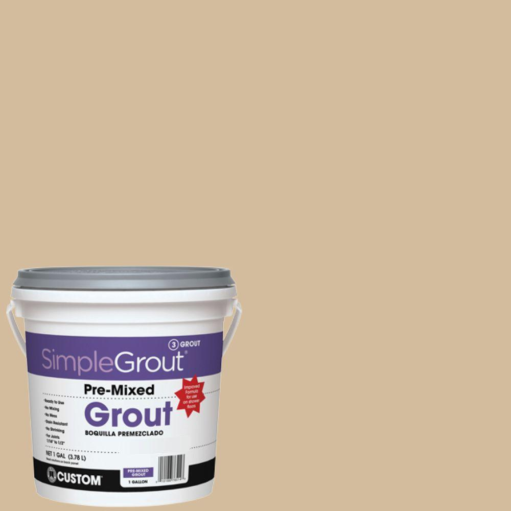 custom building products simplegrout 122 linen 1 gal pre mixed grout pmg1221 the home depot. Black Bedroom Furniture Sets. Home Design Ideas