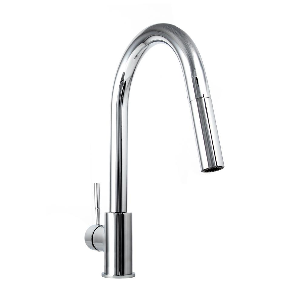 ZLINE Kitchen and Bath Gemini Single-Handle Pull-Down Sprayer Kitchen Faucet in Chrome