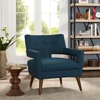 MODWAY Azure Sheer Upholstered Fabric Arm Chair