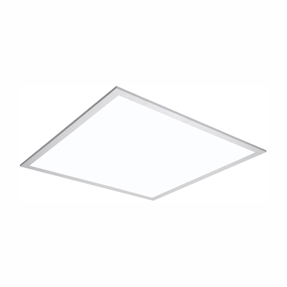 Metalux 2 ft. x 2 ft. White Integrated LED Flat Panel Troffer Light Fixture at 4200 Lumens, 4000K, Dimmable