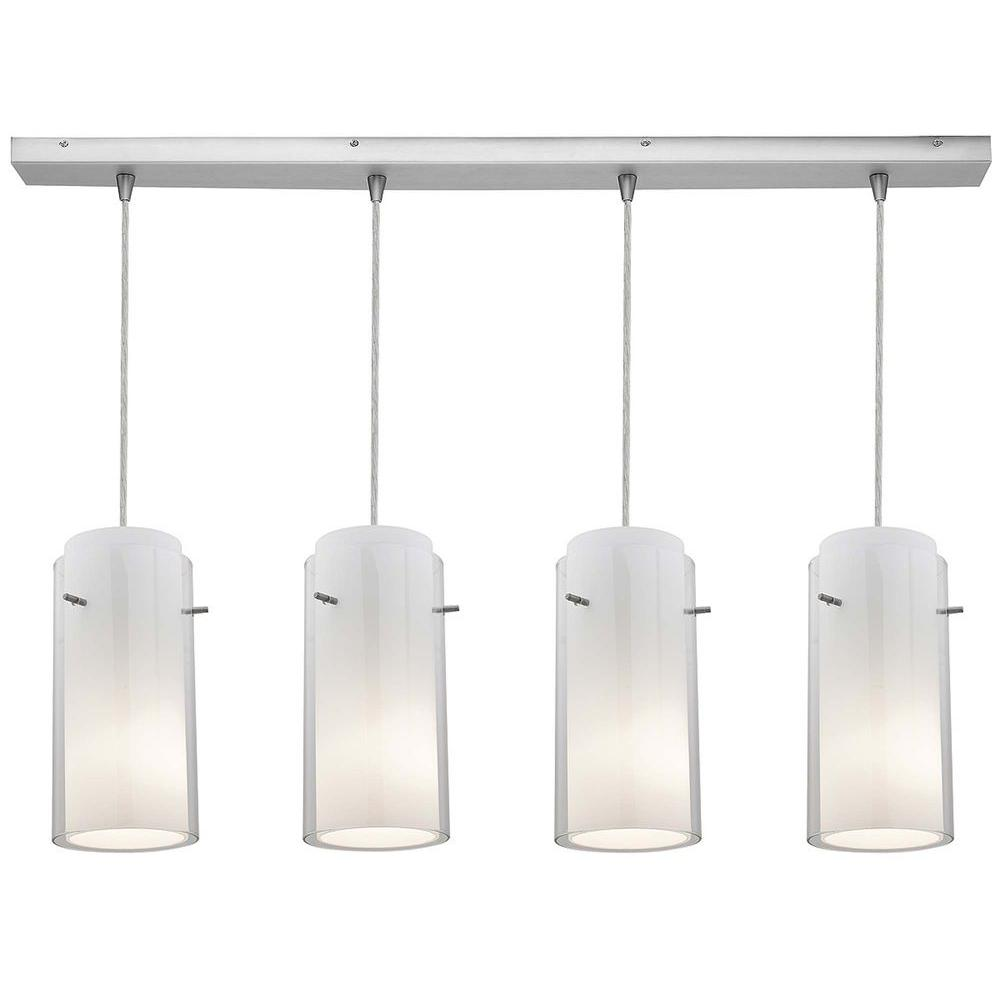 Access Lighting 4-Light Pendant Brushed Steel Finish Clear Glass-DISCONTINUED
