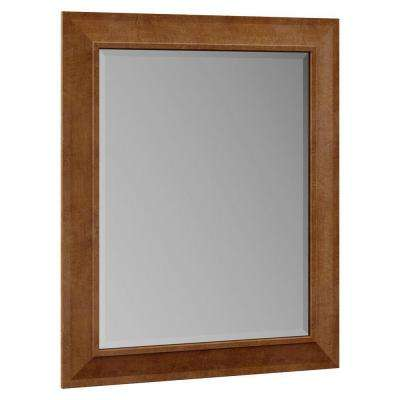 Stirling 29 in. x 35 in. Single Framed Vanity Mirror in Almond