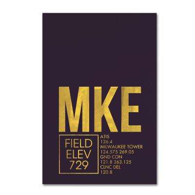 """30 in. x 47 in. """"MKE ATC"""" by 08 Left Canvas Wall Art"""