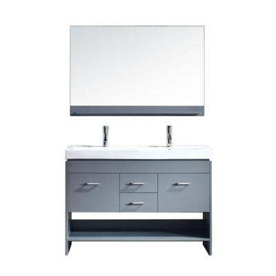 double sink vanity 48 inches. Gloria 48 In  W X 18 1 D Vanity Grey With Ceramic Inch Vanities Double Sink Bathroom Bath The Home