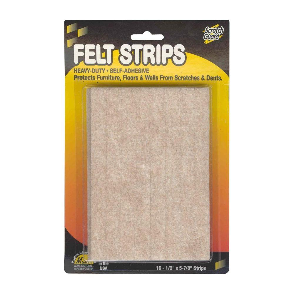 0.50 in. x 5.87 in. Felt Pads (16-Pack)