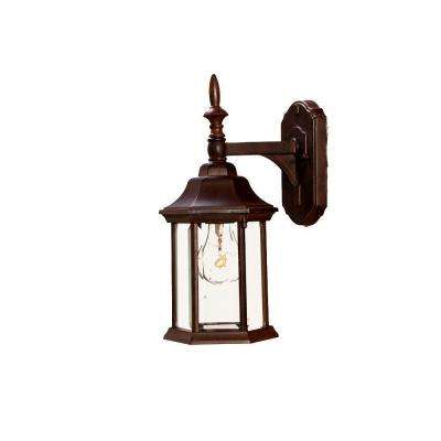 Craftsman Collection 1-Light Burled Walnut Outdoor Wall-Mount Light Fixture