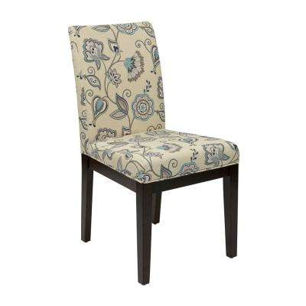 Bon Dakota Avignon Sky Fabric Parsons Chair
