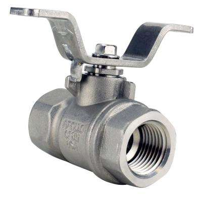 1/2 in. Stainless Steel FNPT x FNPT Full-Port Ball Valve With Tee Handle