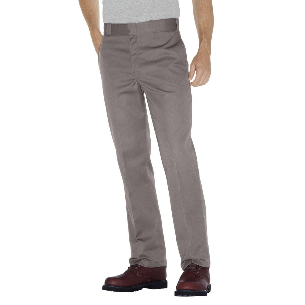 dbcffbf7c0ae6b Dickies Original 874 Men 38 in. x 29 in. Silver Work Pant-874SV 38 ...