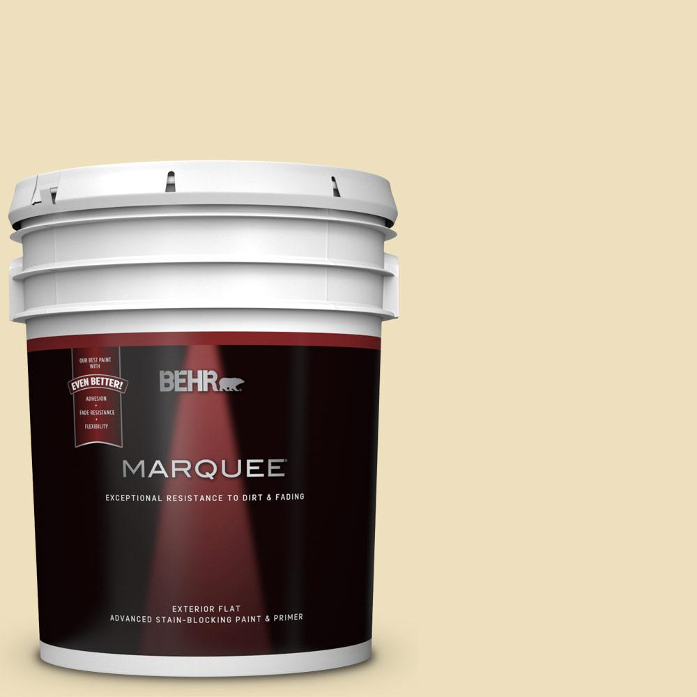 5 gal. #380E-3 Satin Souffle Flat Exterior Paint and Primer in