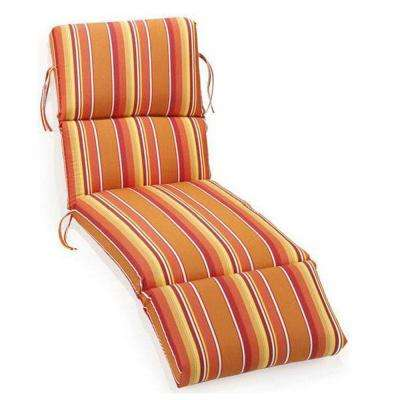 Sunbrella Dolce Mango Outdoor Chaise Lounge Cushion  sc 1 st  Home Depot : orange chaise lounge cushions - Sectionals, Sofas & Couches