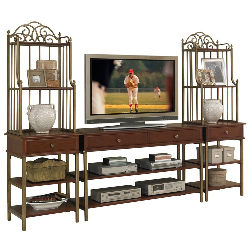Home Styles St. Ives Cinnamon Cherry Media Entertainment Center (3-Piece)