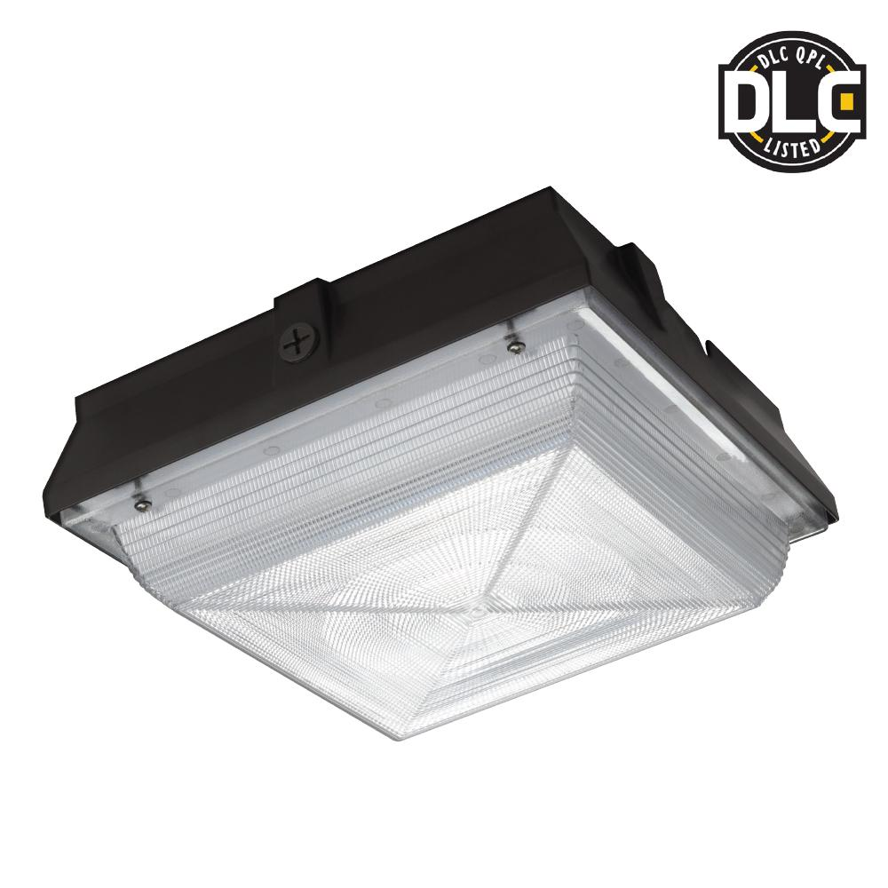 PROBRITE Dark Bronze Integrated LED Outdoor Square Canopy Flush Mount Light