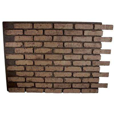Faux Reclaimed Brick 32 in. x 47 in. x 3/4 in. Panel Brownstone
