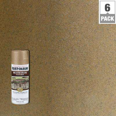 12 oz. MultiColor Textured Radiant Brass Protective Spray Paint (6-Pack)