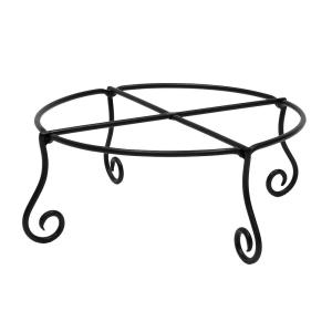 17 in. Dia Black Powder Coat Large Short Piazza Plant Stand