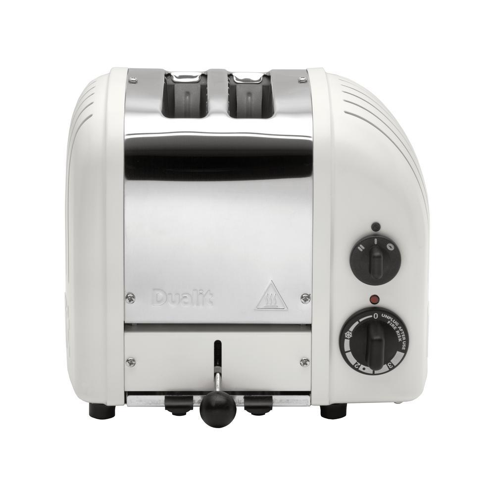 New Gen 2-Slice Matt Porcelain Wide Slot Toaster with Crumb Tray