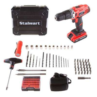 20-Volt Lithium Ion 1/2 in. 2 Speed Hammer Drill Set