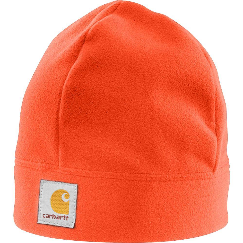 756280b49 Carhartt Men's OFA Hunter Orange Polyester Fleece Hat