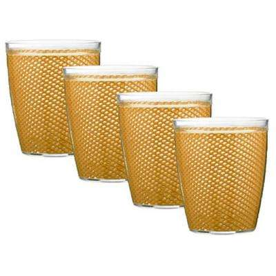Fishnet 14 oz. Golden Insulated Drinkware (Set of 4)
