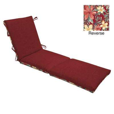 21 x 48 Ruby Leala Texture Reversible Outdoor Chaise Lounge Cushion