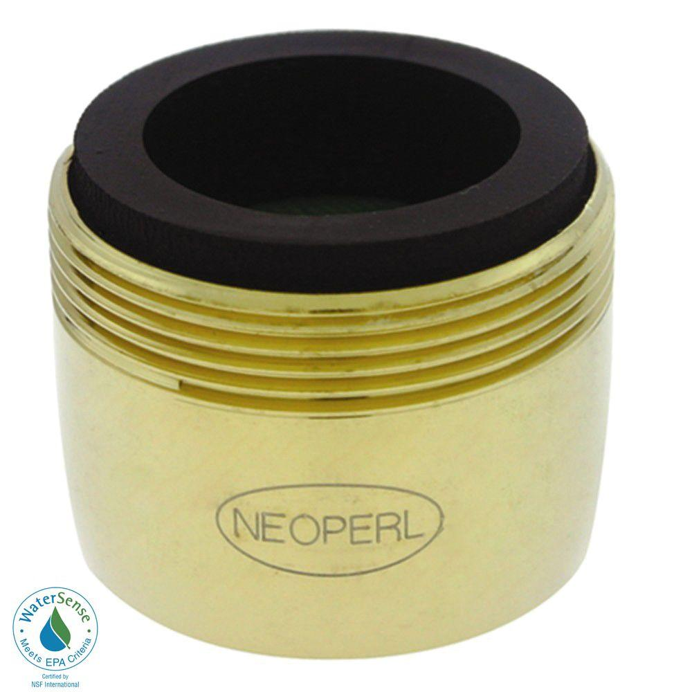 NEOPERL 1.5 GPM Dual-Thread Water-Saving Faucet Aerator in Polished Brass