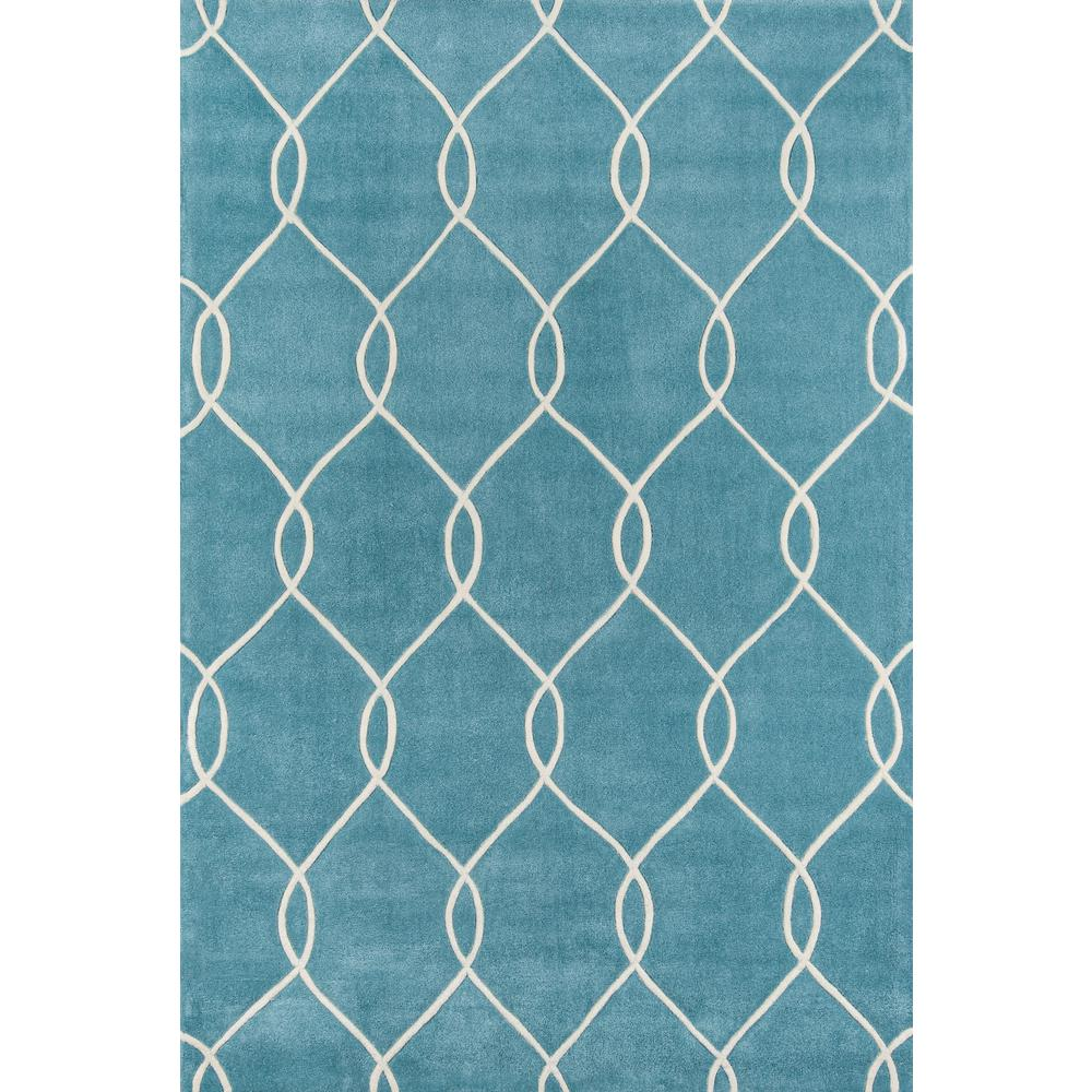Momeni Bliss Teal (Blue) 5 ft. x 8 ft. Indoor Area Rug